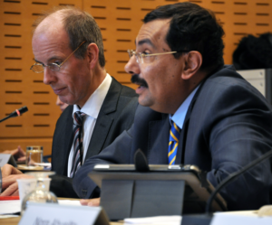 Tarek Kamel and colleagues from ICANN exchanged views with members of the ICC commission on the digital economy