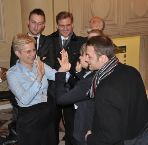 The Jagiellonian mediation team celebrates their victory.