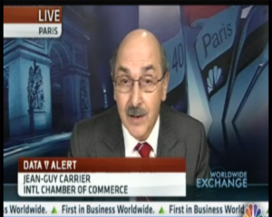 Jean-Guy Carrier spoke to CNBC about the findings of the ICC-Ifo World Economic Survey