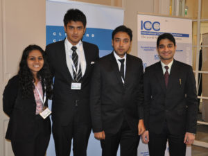 The National Law Institute India team is one of 66 universities participating in ICC's 8th Mediation Competition