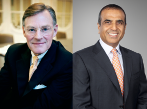 Harold McGraw (left) elected Chairman of ICC, Sunil Mittal (right) elected Vice-Chairman.