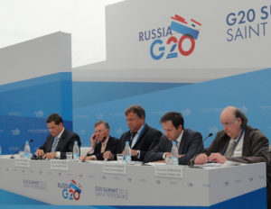 Harold McGraw Attends the G20 Meeting in St. Petersburg, Russia