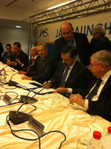 Former British Prime Minister Tony Blair attended the official signing of a tripartite JAC agreement in Jerusalem today