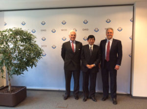 ICC Secretary General John Danilovich with WCO Secretary General Kunio Mikuriya