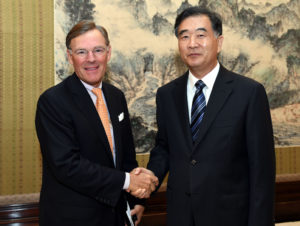 ICC Chairman Terry McGraw meets Chinese Vice-Premier Wang Yang
