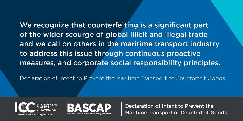 ICC Welcomes NIPRC Signing Of Declaration Of Intent to Prevent the Maritime Transport of Counterfeit Goods